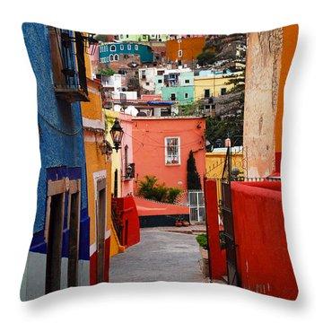 Guanajuato Lane Throw Pillow by Skip Hunt