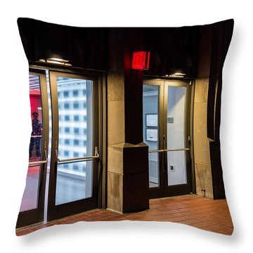 Throw Pillow featuring the photograph Guarding The Door by M G Whittingham