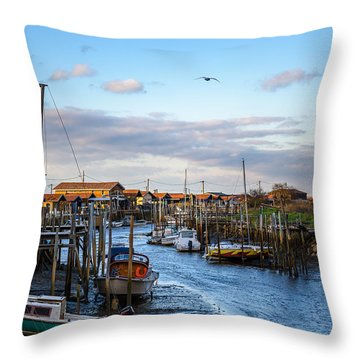 Throw Pillow featuring the photograph Gujan Mestras I by Thierry Bouriat