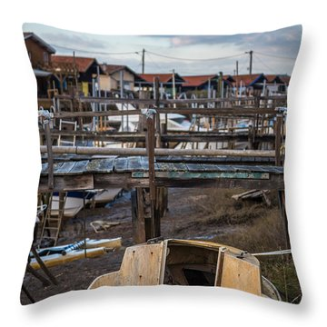Throw Pillow featuring the photograph Gujan Mestras II by Thierry Bouriat