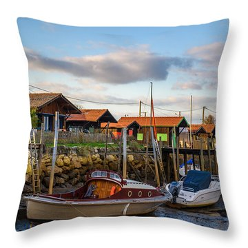 Throw Pillow featuring the photograph Gujan Mestras IIi by Thierry Bouriat