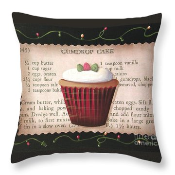 Gumdrop Cupcake Throw Pillow by Catherine Holman
