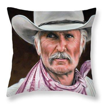 Gus Mccrae Texas Ranger Throw Pillow by Rick McKinney