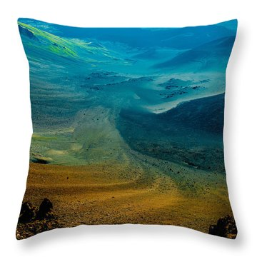 Throw Pillow featuring the photograph Haleakala by M G Whittingham