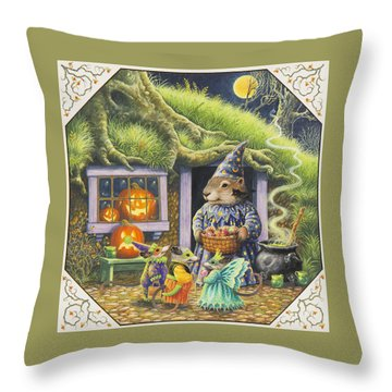 Halloween Costumes Throw Pillow by Lynn Bywaters