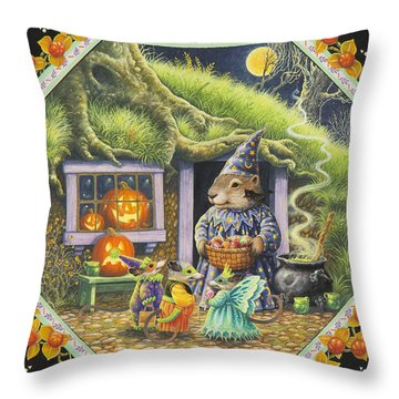Halloween Treats Throw Pillow by Lynn Bywaters