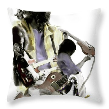 Hammer Of The Gods   Jimmy Page Throw Pillow by Iconic Images Art Gallery David Pucciarelli