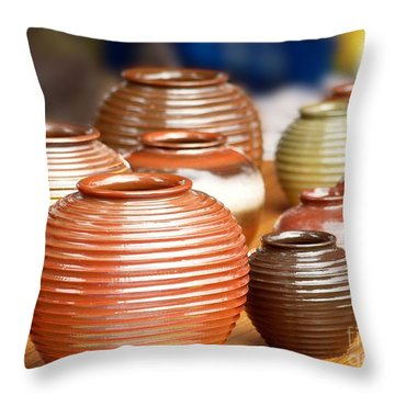 Handmade Pottery Throw Pillow by Yali Shi