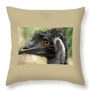 Handsome Throw Pillow by Kaye Menner