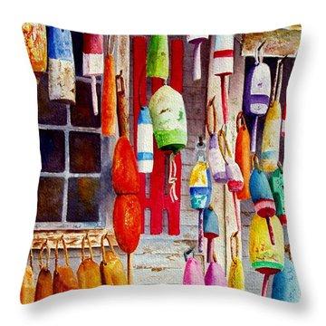 Hanging Around Throw Pillow by Karen Fleschler