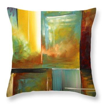 Haphazardous II By Madart Throw Pillow by Megan Duncanson