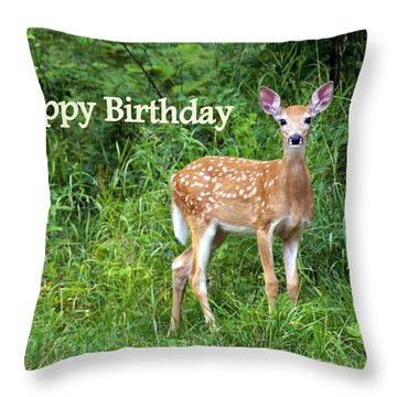 Happy Birthday 1 Throw Pillow by Marty Koch