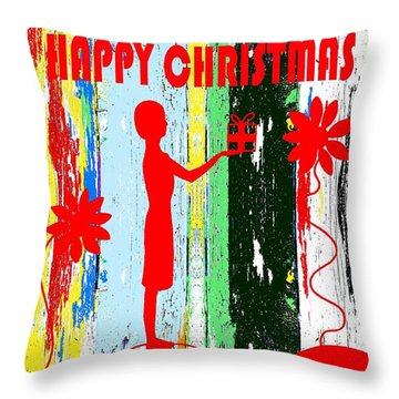 Happy Christmas 14 Throw Pillow by Patrick J Murphy
