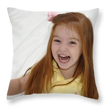 Happy Contest 6 Throw Pillow by Jill Reger