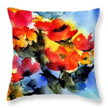 Happy Day Throw Pillow by Anne Duke