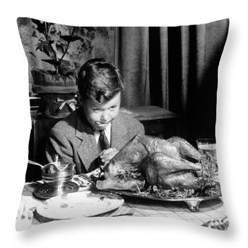 Happy Thanksgiving Throw Pillow by American School