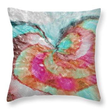 Happy Valentine's Day Throw Pillow by Linda Sannuti