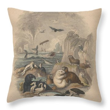 Harbor Throw Pillow by Oliver Goldsmith