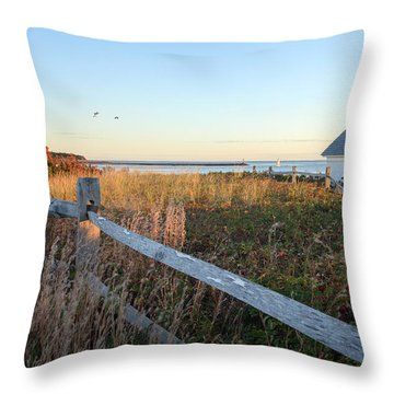 Harbor Shed Throw Pillow by Bill Wakeley