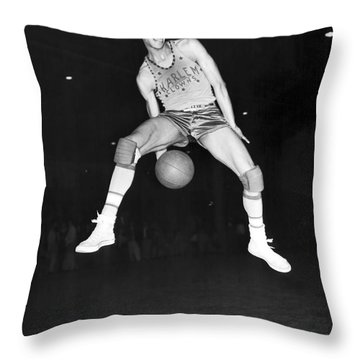 Harlem Clowns Basketball Throw Pillow by Underwood Archives
