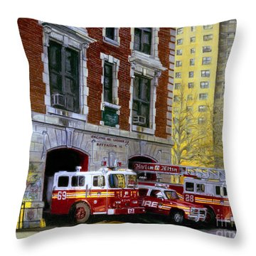 Harlem Hilton Throw Pillow by Paul Walsh