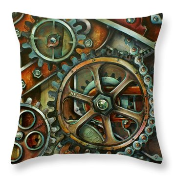 'harmony 3' Throw Pillow by Michael Lang