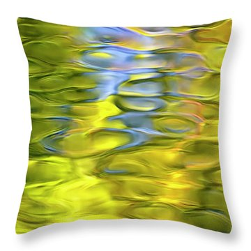 Harvest Gold Mosaic Throw Pillow by Christina Rollo