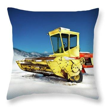 Harvester Throw Pillow by Yo Pedro
