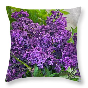 Harvesting Aroma Throw Pillow by Gwyn Newcombe