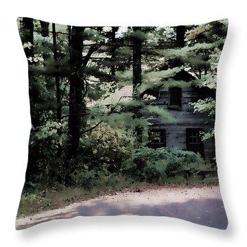 Haunted Throw Pillow by Lauren Radke