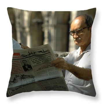 Throw Pillow featuring the photograph Havana by Travel Pics