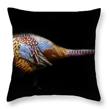 Have A Pheasant Day.. Throw Pillow by Martin Newman