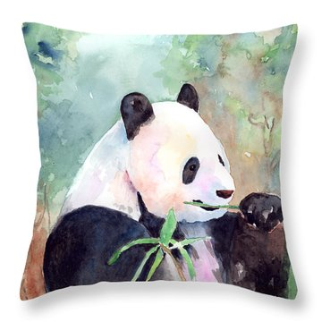 Having A Snack Throw Pillow by Arline Wagner