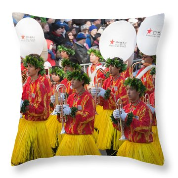 Hawaii All-state Marching Band I Throw Pillow by Clarence Holmes