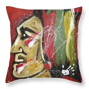 Hawks Throw Pillow by Elliott From