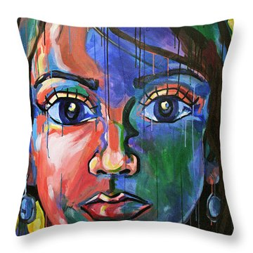 Head 2.0 Throw Pillow by Julia Pappas