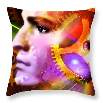 Head Of A Mannequin Throw Pillow by Bernard Jaubert