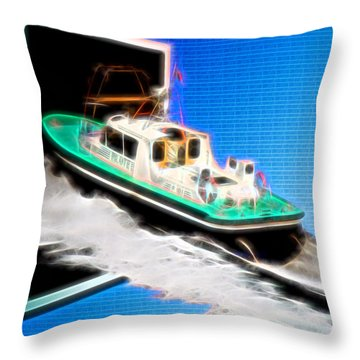 Heading Back To Sea Throw Pillow by Sue Melvin