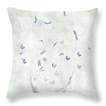 Heal Throw Pillow by Jacky Gerritsen