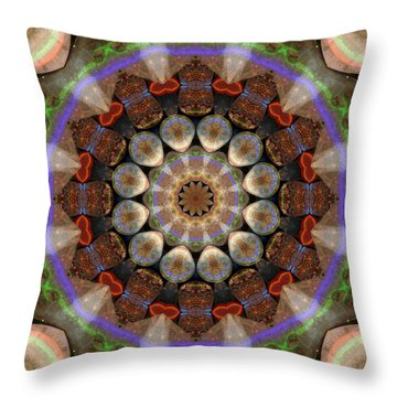 Healing Mandala 30 Throw Pillow by Bell And Todd