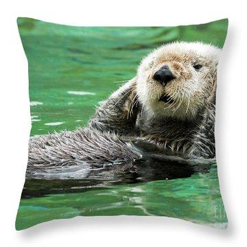 Hear No Evil Throw Pillow by Mike Dawson