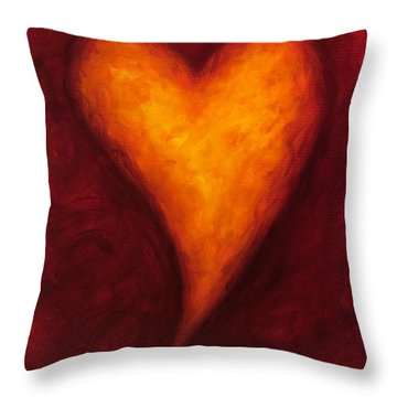 Heart Of Gold 2 Throw Pillow by Shannon Grissom