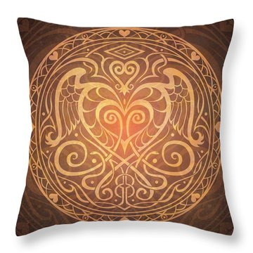 Heart Of Wisdom Mandala Throw Pillow by Cristina McAllister