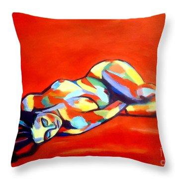 Heat Throw Pillow by Helena Wierzbicki