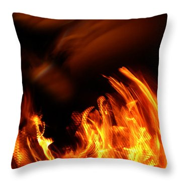 Heavenly Flame Throw Pillow by Donna Blackhall
