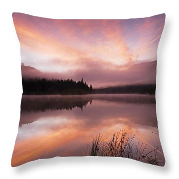 Heavenly Skies Throw Pillow by Mike  Dawson