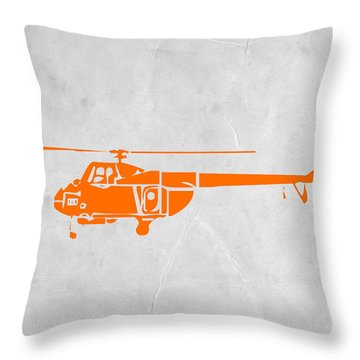 Helicopter Throw Pillow by Naxart Studio