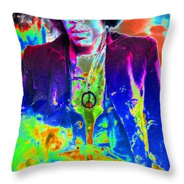 Hendrix Throw Pillow by David Lee Thompson