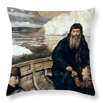 Henry Hudson And Son Throw Pillow by Granger