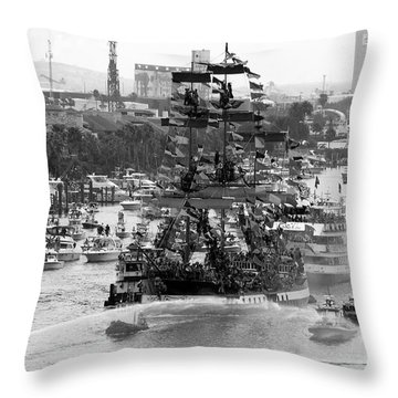 Here Come The Pirates Throw Pillow by David Lee Thompson